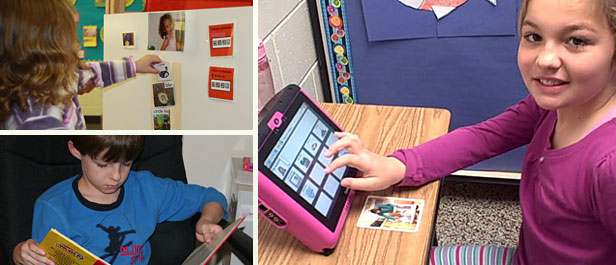 Children with autism using technology learning devices