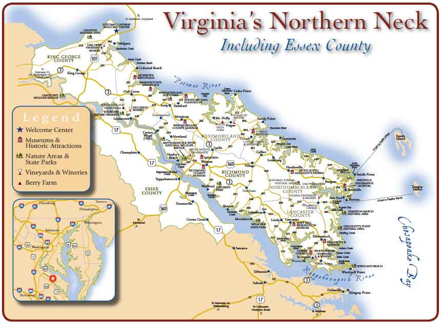 map of the Northern Neck